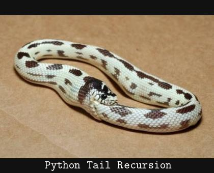 Python Tail Recursion